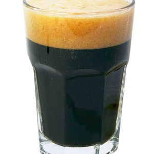 Tall glass of Blackrock Brew craft beer brewery Dublin creamy Stout Oprah